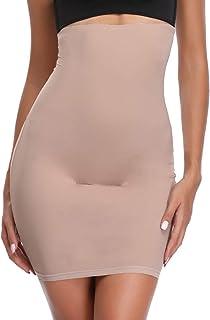 نصف زلق للنساء تحت الفساتين عالية الخصر البطن التحكم ملابس داخلية اللباس الانزلاق الجسم تنورة المشكل