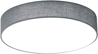 Plafonnier, Nickel Tissu, gris, Integriert 11W