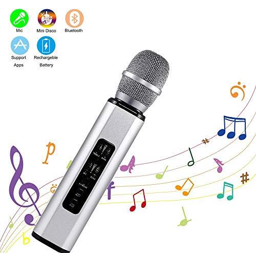 Zeerkeer Karaoke Bluetooth,Microfono Inalámbrico Altavoces, Portátil Karaoke para Niños Cantar, Función de Eco Compatible con Android/iOS PC
