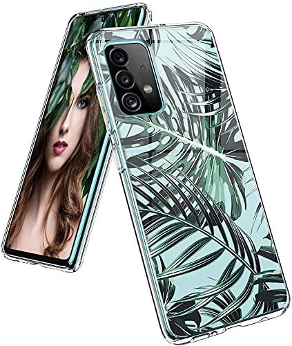 Croazhi Galaxy A52 Hülle Cover Kompatibel mit Samsung Galaxy A52 Hülle Handyhülle Silikon Transparent Original Blumen Muster Motiv Schutzhülle Dünn Bumper Stoßfest Hüllen für Galaxy A52 Handy 5G/4G (F)