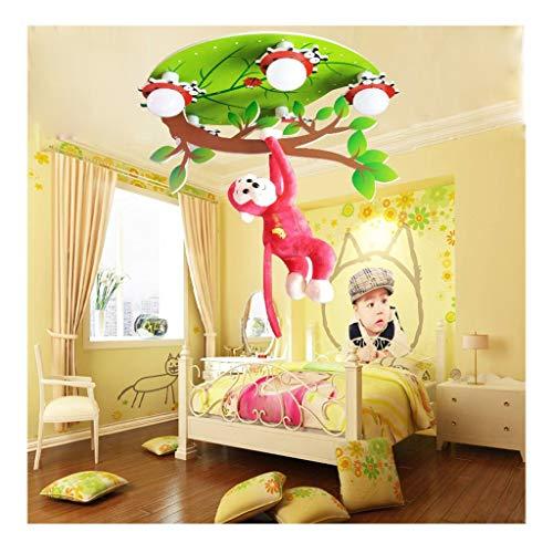 SOARLL-A kinderkamerdeken lamp kamer cartoon Little Monkey Fantasy Forest kinderdagverlichting doe-het-zelvers creatieve cartoon kinderlamp lieveheersbeestje bladeren slaapkamer plafond LED-lamp sch