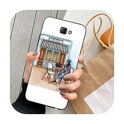 FightLY Moda hermosa chica teléfono caso para Samsung J 4 5 6 7 8 prime plus 2018 2017 2016 J7 core-a11-para J5 prime