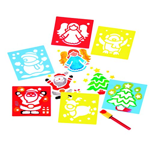 Baker Ross Plantillas de Navidad (Paquete de 6) Para manualidades infantiles