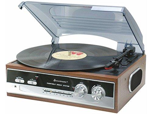 Soundmaster PL 186 Nostalgie ¿ Plattenspieler mit Radio