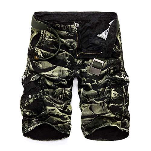 MCSZG Pantaloncini Cargo Militari da Uomo Corti Pantaloncini Tattici mimetici Militari Pantaloni Casual da Uomo in Cotone AllentatiPlus Size