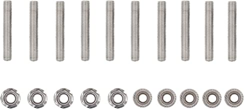 10 Pcs V10 Stainless Exhaust Manifold Studs Stud Nuts Bolt Kit for Ford 6.8 Liter V10