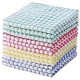 GUYUE Set di Asciugamani Asciugamani da Cucina, Asciugamani da Cucina in Cotone Sciolto, Confezione da 10 Panni Piatto Asciugamani per lavastoviglie Asciugamani Asciugamani (Color : Ran Color)