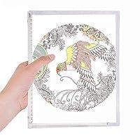 翼の花・木の鳥の浮世絵 硬質プラスチックルーズリーフノートノート