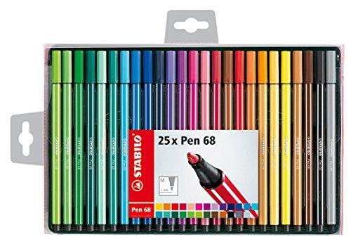 Pennarello Premium - STABILO Pen 68 - Astuccio da 25 - Colori assortiti