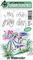 Art Impressions 5124 水彩粘着ゴムスタンプ 自転車