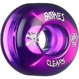 Bones Wheels SPF Clears 54mm Clear Purple Skateboard Wheels (Set of 4)