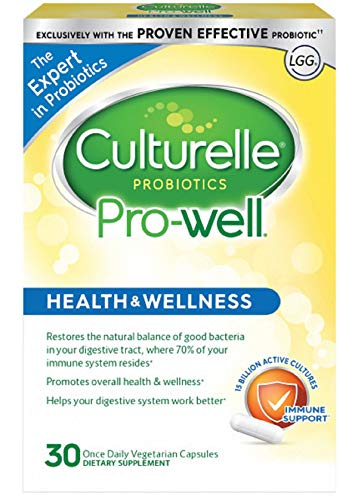 Culturelle Pro-Well Daily Probiotic Supplement - Immune Support - With the proven effective Probiotic - 15 Billion CFU - 30 Vegetarian Capsules