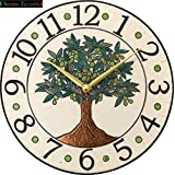 リズム時計工業(Rhythm) 掛け時計 白 φ30x4cm ザッカレラ Z948 イタリア製陶器枠 ルート限定モデル ZC948-003