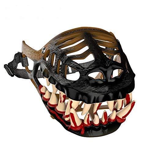 SpookyPup Lustiges Hundekostüm Maulkorb mit großen Gruselzähnen - Bringen Sie Ihren Hund zum Spaß (X-Large)