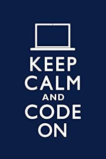 Keep Calm and Code On Blue Humor Laminated Dry Erase Sign Poster 12x18