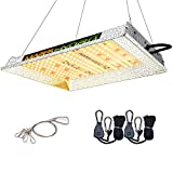 MARSHYDRO TS 600W LED Grow Light Updated 240 LEDs Highly Reflective Hood Full Spectrum Grow Light for Hydroponic Indoor Plant Seeding Veg and Flower (IR Included)