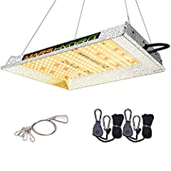 SUNLIGHT FULL SPECTRUM GROW LIGHT, Infinite close to natural sun light, full spectrum 3000K 5000K and IR 660nm 760nm RED, suit for all plants whole stages indoor growing, rapid plant response from seed to flower HIGH EFFICIENCY ENERGY SAVING PLANT LI...