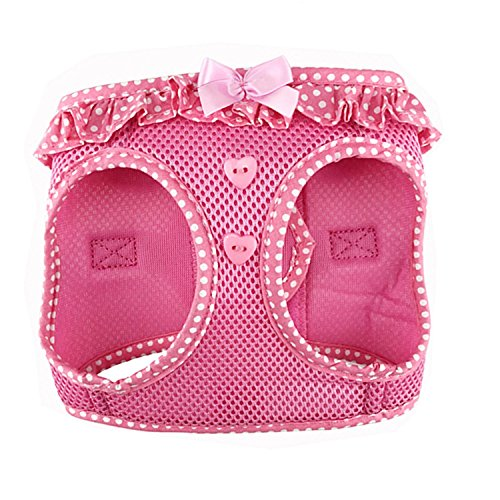 DOGGIE DESIGN American River Choke Free Dog Harness (S, Pink Polka Dot)
