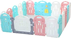 ZQSB Baby Safety Play Yard  Baby Playpen Kids Safety Play Center  Strong Adsorption Capacity  External Fixed Door Lock  Suitable for School Living Room Park