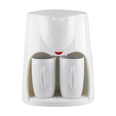 Salalook kaffeevollautomat klein abmessungen,kaffeevollautomat mit 2 Tassen und 1Löffel für Kaffeepulver/Kaffeebohnen,2-Tassen-Funktion,Weiß