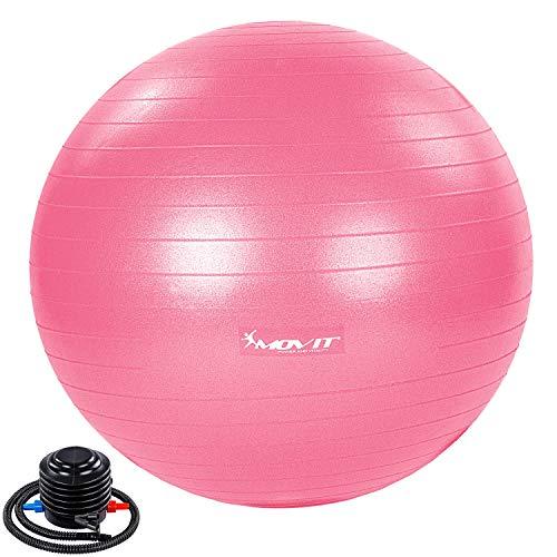 Movit® Gymnastikball »Dynamic Ball« inkl. Pumpe, 65 cm, pink, Maximalbelastbarkeit bis 500kg, berstsicher, Fitness-Ball, Sitzball, Yogaball, Pilates-Ball, Balance