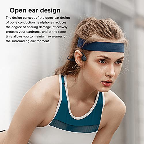 Auriculares de conducción ósea bluetooth con micrófono Auriculares abiertos de oído incorporado 8G memoria IPX8 impermeable