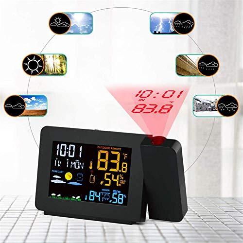 XY-M Revisión Mobile Alarma estación meteorológica, de Color de iluminación de Fondo sensores externos, la Temperatura de Humedad Digital de Reloj del Snooze