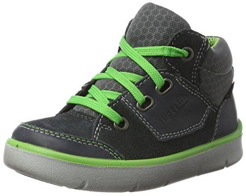 Superfit Jungen BART Hohe Sneaker, Grau (Charcoal), 35 EU