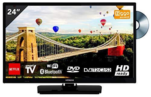 Hitachi 24 inch televisie met DVD-speler (HD-ready, DVB-T2, Triple Tuner) HDMI [energieklasse A ]