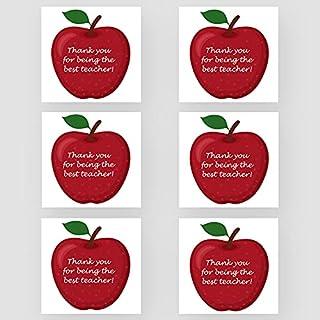 Marvello 'Thank you Teacher' zestaw kart Apple (6 kart) - wysokiej jakości koperty w zestawie - jeden wzór - puste w środk...