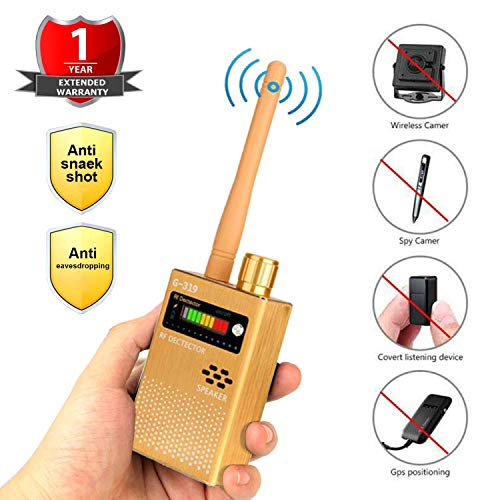 ICQUANZX Detector de Señal Anti-Espía Detector de señal GPS Detector de Señal Espía Detector de Cámara Inalámbrica Detector de RF Buscador de Dispositivos gsm