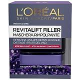 L'Oréal Paris Revitalift Filler Maschera Viso Antirughe Rimpolpante Notte con Acido Ialuronico Concentrato, 50 ml