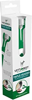 Vet's Best Triple Headed Toothbrush for Dogs - Teeth Cleaning and Fresh Breath