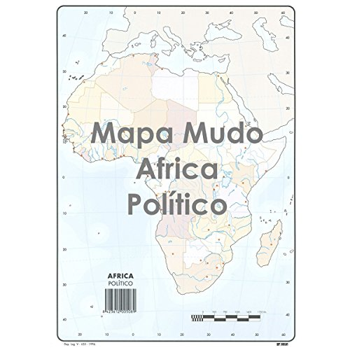 Mapa Mudo SELVI Color Din-A4 África Político, Caja x50