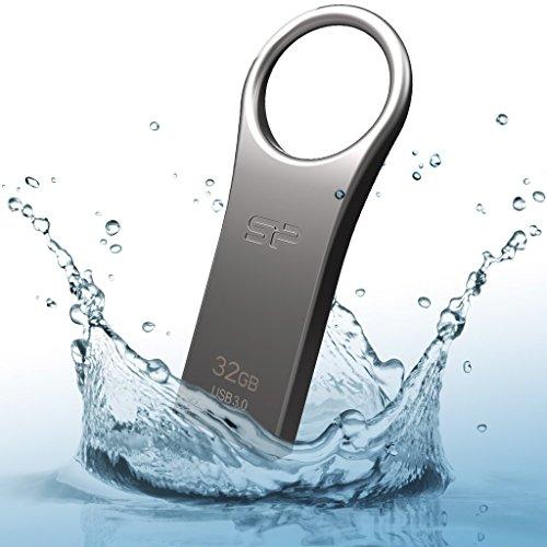 『シリコンパワー USBメモリ 32GB USB3.0 防水 防塵 耐衝撃 亜鉛 合金デザイン 永久保証 Jewel J80 SP032GBUF3J80V1TEJ』の1枚目の画像