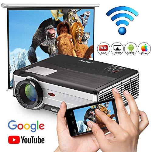 WIKISH Bluetooth Inalámbrico WiFi Proyector Cine