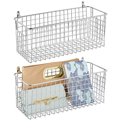 wire basket wall mount - 4