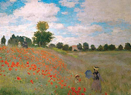 DDTOP Poppy Field Puzzles for Adults, Claude Monet Famous Canvas Oil Painting Poppies at