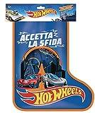 Hot Wheels- Calza della Befana con 2 Macchinine e Tante Sorprese, Giocattolo per Bambini 3+Anni, HBH66