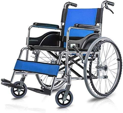 N/Z Haushaltsgeräte Rollstühle Hochfeste Aluminiumlegierung Leichter und Faltbarer Rahmen Rollstuhl mit tragbarem Transit-Reisestuhl mit Begleitantrieb wiegt nur 13,2 kg