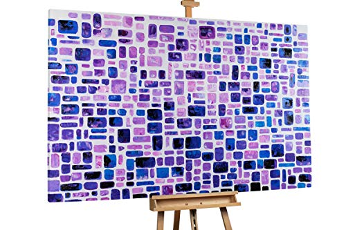 'Variety of Violet' 180x120cm | Abstrakt Lila Muster XXL | Modernes Kunst Ölbild