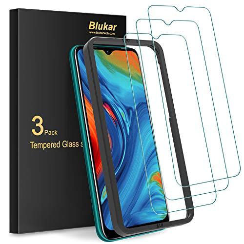 Blukar [Lot de 3 Verre Trempé pour Samsung Galaxy A10, [Anti-Rayures] Film Protection d'écran en Verre Trempé Film Protecteur [Outil Installation Facile] [Dureté 9H] [sans Bulles]