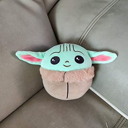 Jiutian 13-26 CM Mandalorian Super Elastic Doll Pillow Baby Yoda Plush, Star Wars Baby Yoda Collection Decoración Peluches (Height : 13CM)