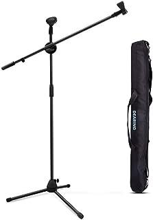 DEARING マイクスタンド 【ブーム/ストレート】 三脚 折り畳み 持ち運びバッグ&マイクホルダー2種類付き 軽量 伸縮アーム 【安定性+・質+】 360度&高さ調節可能 スピーチ/放送/レコーディングに適用