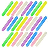 24PCS Plastic Toothbrush Case Six Colors Portable Dust-proof Toothbrush Cases Toothbrushes Holder for Daily and Travel Use