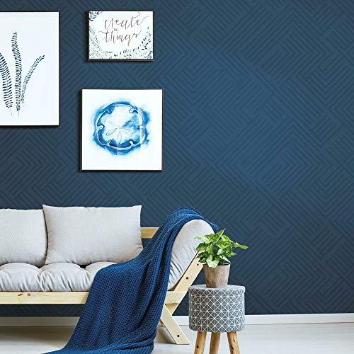 RoomMates RMK11260WP Blue Perplexing Peel and Stick Wallpaper