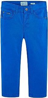 Mayoral Pantalón de algodón Slim Fit, 9 años (134cm), Pacífico