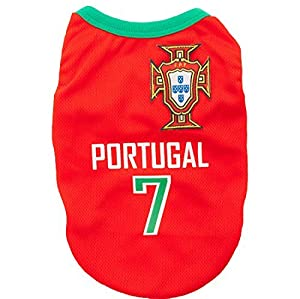 Animally Maillot de football pour chien Portugal Coupe du monde 2016