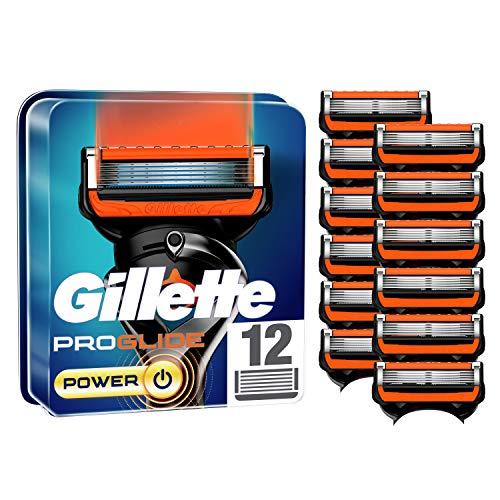 Gillette ProGlide Power Rasierklingen für Männer, 12 Stück, mit 5 Anti-Irritations-Klingen, für eine gründliche und lang anhaltende Rasur