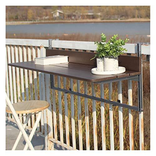 LKH Mesa Colgante Flotante, Mesa Plegable De Balcón Grande De Escritorio De Escritorio para Niños Mesa De Ocio para Espacio Pequeño, Uso De La Oficina En El Hogar(Size:120×37cm,Color:marrón)